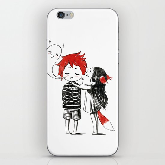 Boy and a Fox iPhone & iPod Skin