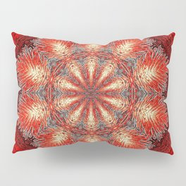 Red Vintage Flower Background Pattern Pillow Sham
