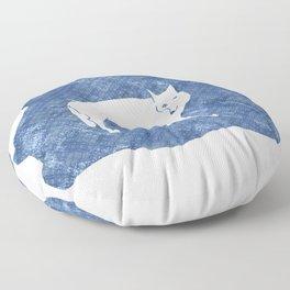 Polar wolf Floor Pillow