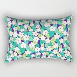 Electric Blue Rectangular Pillow