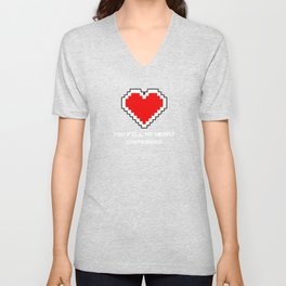 You Fill my Heart (Containers) Unisex V-Neck