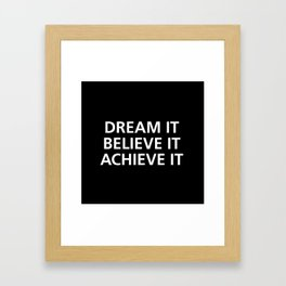 Motivational Framed Art Print