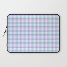 Gingham purple and teal Laptop Sleeve