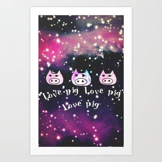 pig-122 Art Print