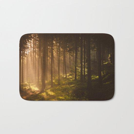 Morning forest Bath Mat