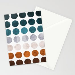 Colorful watercolor circles Stationery Cards