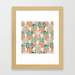 Succulent's Tiny Pots Framed Art Print