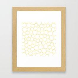 Circled in Gold Framed Art Print