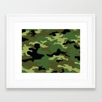 camo Framed Art Prints featuring Camo by anhnt32