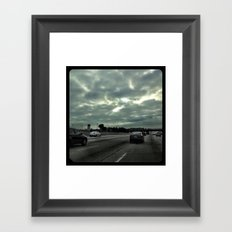 Clouds on the freeway. Framed Art Print
