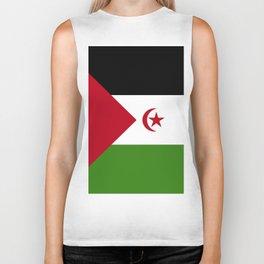 Western Sahara flag emblem Biker Tank