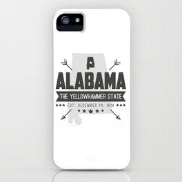 Alabama State Badge iPhone Case