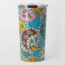 Paisley on Blue Travel Mug