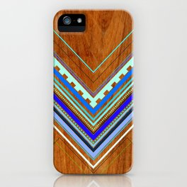 Aztec Arbutus Blue iPhone Case