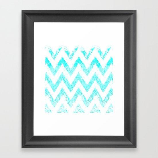 zig-zag Framed Art Print