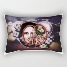 Milk, Honey and Time | Collage Rectangular Pillow