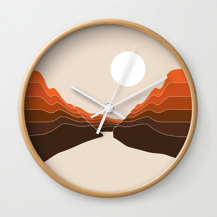 Desert Dusk Ravine Wall Clock