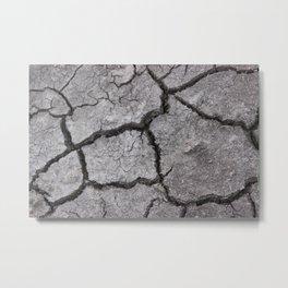 Dry Soil Metal Print