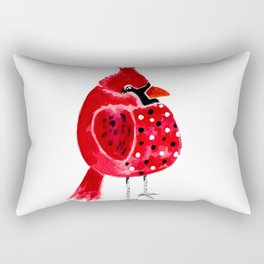 Polka Dot Cardinal Rectangular Pillow