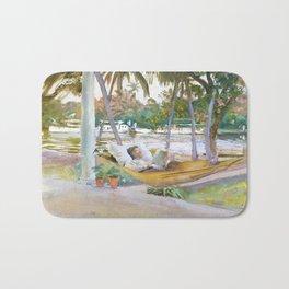 Figure in Hammock, Florida by John Singer Sargent Bath Mat