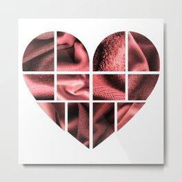 Heart and Fabric Metal Print