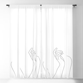Hand and body illustration - Alma Blackout Curtain