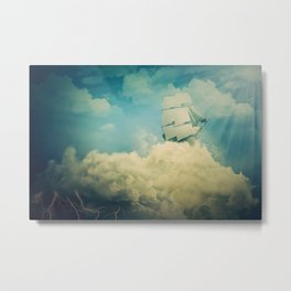 Air floating boat Metal Print
