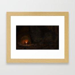 Pyromancy Flame Framed Art Print