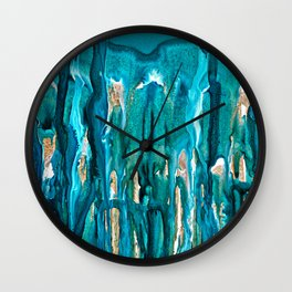 Winter In The Pines Wall Clock