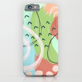 Abstract in Honeydew Melon iPhone Case