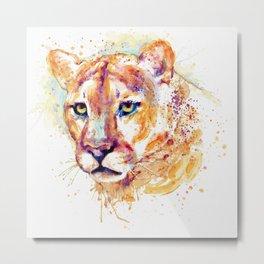Cougar Head Metal Print