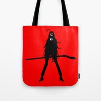 black butler Tote Bags featuring Black Butler Grell Sutcliff by Prince Of Darkness