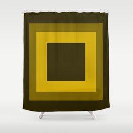 Dark Yellow Square Design Shower Curtain