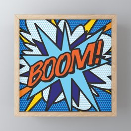 Comic Book BOOM Framed Mini Art Print