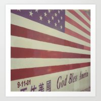 flag Art Prints featuring Flag by Karin Elizabeth