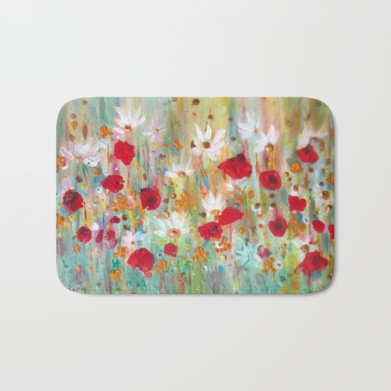 A summer meadow Bath Mat