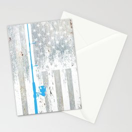 American Flag Fishing Fish Vintage Stationery Cards