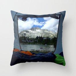 Tent View Throw Pillow