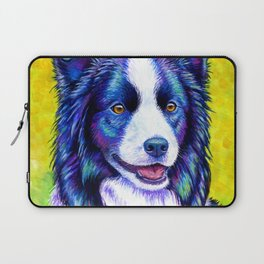 Colorful Border Collie Dog Laptop Sleeve