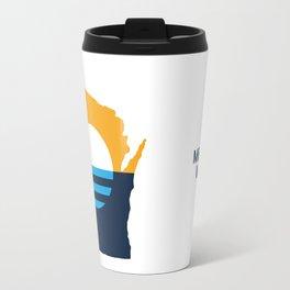 Wisconsin - People's Flag of Milwaukee Travel Mug