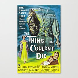 The Thing That Couldn't Die, Vintage Horror Movie Poster Canvas Print