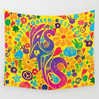 60s Wall Tapestries featuring BQ - Yas4Yas 60s Throwback by lessdanthree