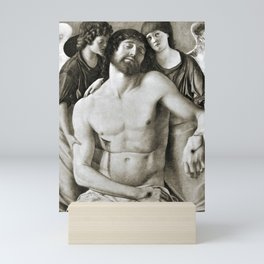 Dead Christ Between Two Angels by Giovanni Bellini Mini Art Print