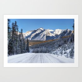 Winter Wonderland - Road in the Canadian Rockies Art Print