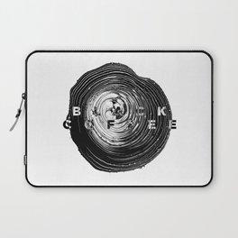 Black Coffee Abstract Art Laptop Sleeve