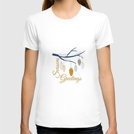 Seaons Greetings With Pine Cones T-shirt