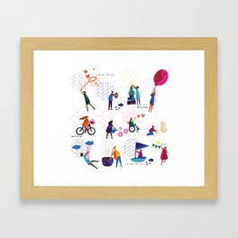 colorHIVE characters Framed Art Print