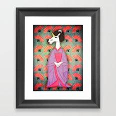 Unicorn Geisha Framed Art Print