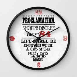 Riddle's Tea Shoppe Proclamation No. 84 Wall Clock