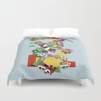 nerd Duvet Covers featuring NERD issimo by Gianluca Floris